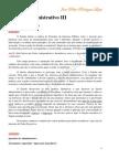 Matéria Direito Administrativo III