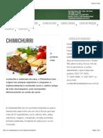 Receita Chimichurri - Cerealista Barroso