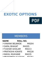 Exotic Options Final