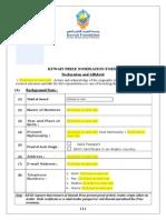 Kuwait Prize 2014 Nomination Form English
