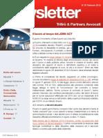 Newsletter T&P N°87