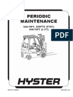 Manutencao Hyster H40 70FT, Maintenance Hyster H40 70FT