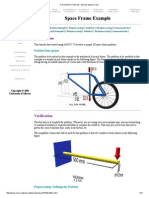 U of a ANSYS Tutorials - Bicycle Space Frame