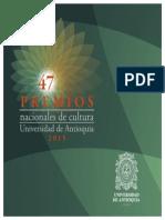 Cuadernillo Premios Nacionales de Cultura