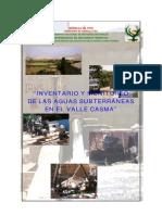inventario Y monitoreo  de las  aguas Subterraneas Casma