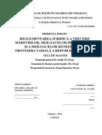 Reglementarea Juridică a Trecerii Mărfurilor, Mijloacelor de Transport Și a Mijloacelor Bănești Peste Frontiera Vamală a Republicii Moldova