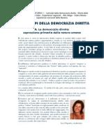 I PRINCIPI DELLA DEMOCRAZIA DIRETTA