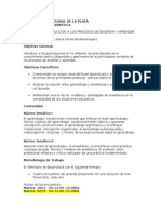 Programa Introducción a Los Procesos de Enseñar y Aprender - 2014