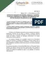 Operativo Conjunto de Profepa, Conagua y Cofepris Clausura 9 Empresas Altamente Contaminantes Que Vertían Residuos Peligrosos Al Río Atoyac