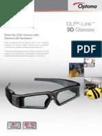 Optoma ZD201 3D Szemüveg Prospektus