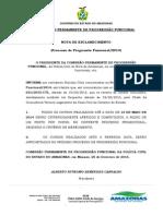 Nota de Esclarecimento (Processo de Progressão Funcional/2014