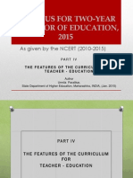 NCERT B.ed Two Year Curriculum 2010-12 Part IV