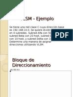 VLSM - Ejemplo