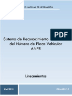 Anexo 5 - Lineamientos Del Sistema de Reconocimiento Automático Del Número de Placa Vehicular