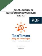 TT Articulo Windows Server Que Hay de Nuevo en Windows Server 2012 R2