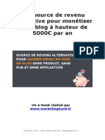 Un moyen alternatif de faire 5000€ par an avec son blog