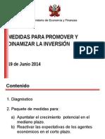 Medidas de dinamización de la inversion