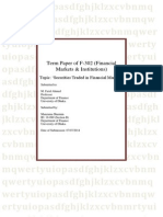 term paper of financial markets & institutions