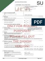 Translation of the Form Udenlandske Statsborgere