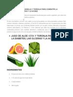 Jugo de Aloe Vera Sábila y Toronja Para Combatir La Diabetes
