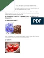 Remedios Caseros Para Prevenir El Cancer de Prostata