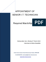 Senior I.T. Technician