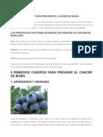 Remedios caseros para prevenir el cancer de mama