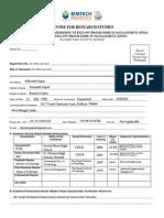 Application Form for FPM EFPM
