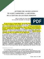 Metáfora de La Lectura en Los Pasos Perdidos_López