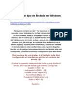 Configurar El Tipo de Teclado en Windows 7