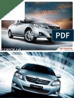 Manual Toyota Corolla 2011