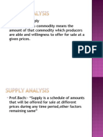 Supply Analysis - Managerial economics