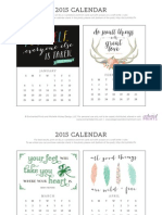 Enchanted Prints 2015 Calendar - Motivational