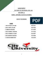 Apparel Manuafcturing 1