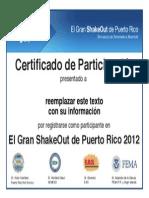 PuertoRicoShakeOutCertificado Form