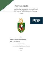 Proposal Skripsi sertifikat tanah tumpang tindih