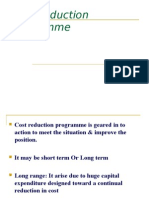 Cost reduction programme