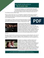 Résumé détaillé du film québécoisThe Favourite Game