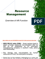 Overview of HR Functions
