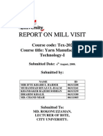 Yarn-1, Report on Mill Visit