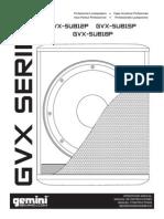 Manual de Gvx-sub12p
