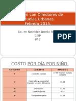 Reunión Con Directores de Escuelas Urbanas Febrero 2015