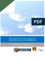 Retos Estructurales de la Economia Vasca. POLITICAS ANTI CRISIS (I)