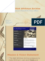 walt whitman archive