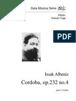 Albéniz, Isaac - Cordoba