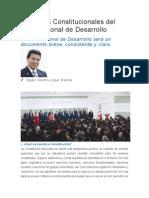 Principios Constitucionales Del Plan Nacional de Desarrollo