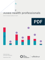 Nuffield Allied Health Professionals Report 2013