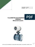Electromagnetico flujometro