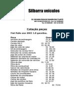 Peças Fiat Pálio 2003