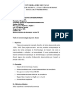 Programa de Filosofia Contemporanea 2015.1 - USP